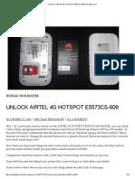 Unlock Airtel 4g Hotspot e5573cs-609 _ Gadget Guru