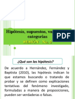 Ppt Sesión 5 Hipotesis Variables