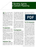 The Use of Bonding Agents for Portland Cement Plastering