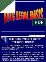 Rotc Legal Basis
