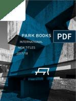 ParkBooks International New Titles 2017 18 Screen