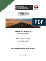 PERFIL de PROYECTO Informe Final de Caminos