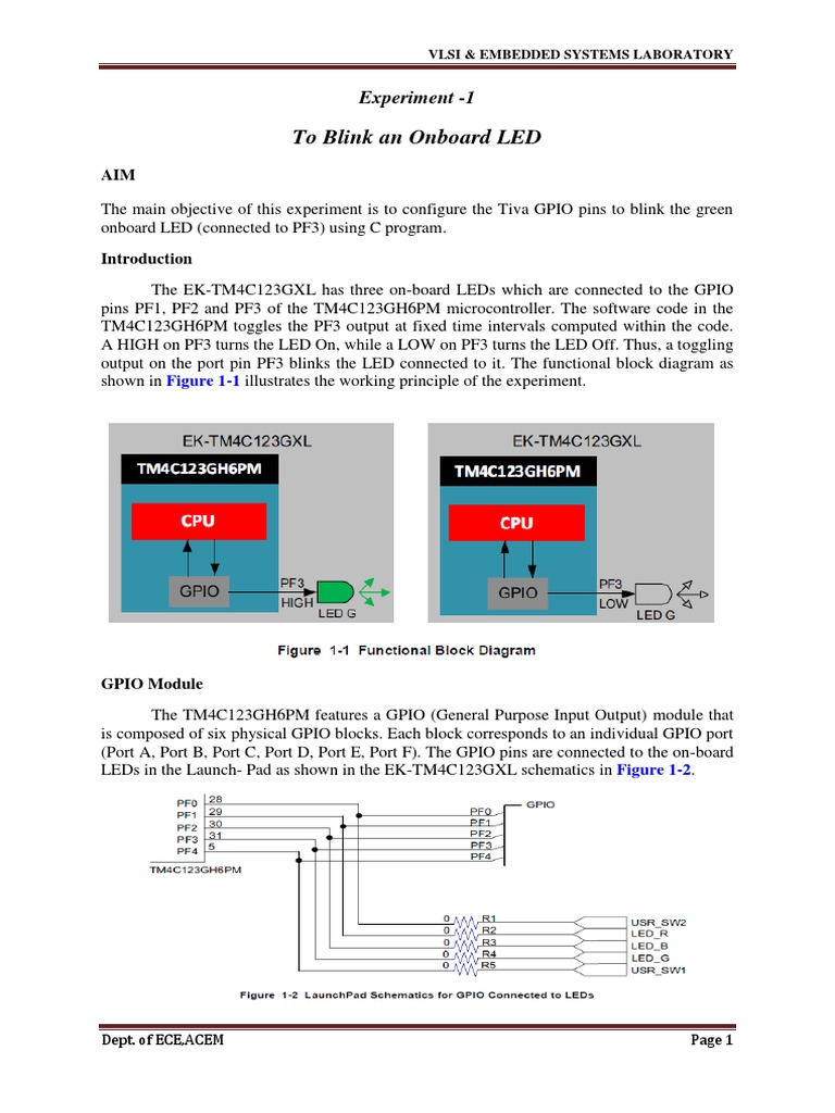 Embed Lab Manual 4-1 | Analog To Digital Converter