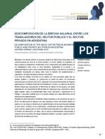 DESCOMPOSICIÓN DE LA BRECHA SALARIAL ENTRE LOS. Juan Pablo Carranza; Carlos Lucca. APyS. N 2. 2016 IIFAP.pdf