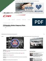 LTO Mandates Uniform Temporary Plates _ CarGuide