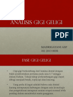 Ppt Analisis Gigi