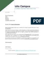 Modelo de Carta de Apresentação Para Curriculo 02
