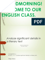 Analyze Significant Details in a Literary Text