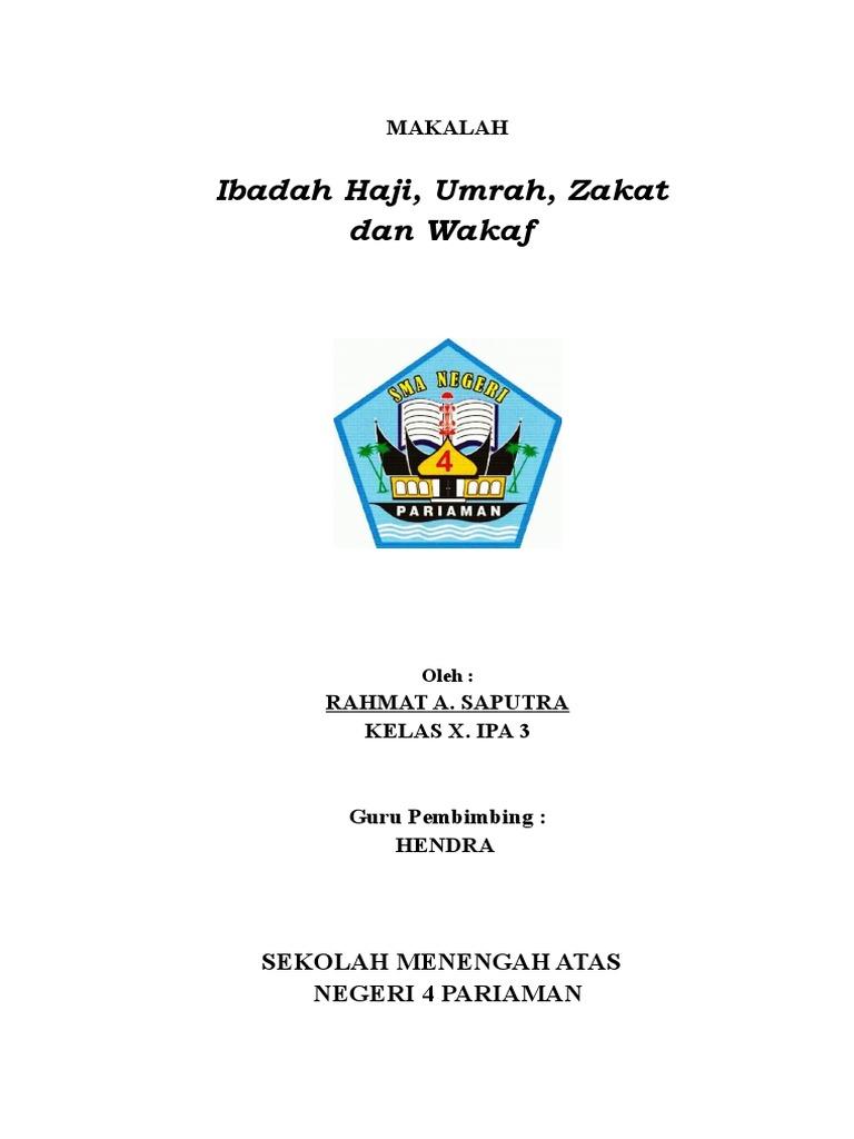 Makalah Haji Umrah Zakat Dan Wakaf