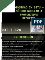 Densidad in Situ – Método Nuclear a Profundidad Reducida