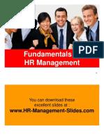 Fundamentals of HR Management