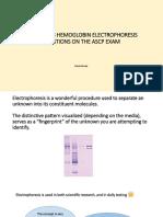 Hemoglobin Electrophoresis Slideshow