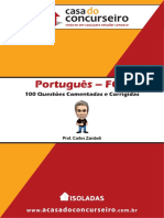Portugues Fgv 100 Questoes Corrigidas e Comentadas Carlos Zambeli