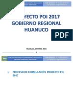 Plan Operativo Institucional - Gobierno Regional Huanuco