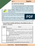 6to Grado - Español - Las Cartas de Opinión