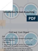 Introduction to Cost Accounting