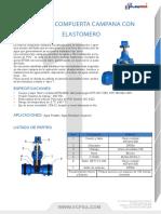 Valvula Compuerta Campana Con Elastomero