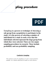 Sampling Procedure