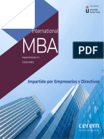 Master Mba Especializado en Coaching