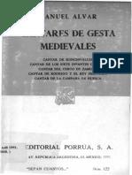 Alvar- Cantares de Gesta Medievales