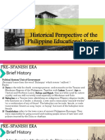Historical Perspective of Philippine Educational System