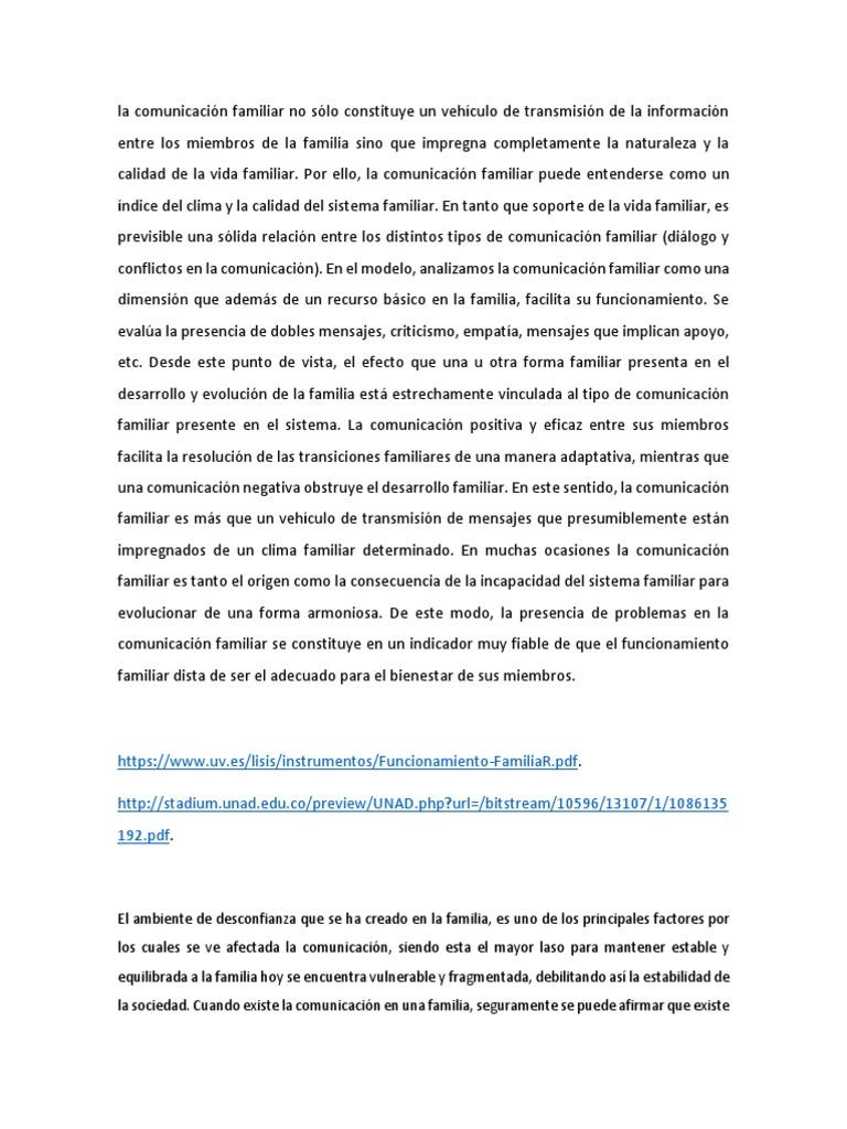 la comunicacion familiar pdf