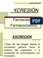 Excreción farmacología