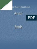 FT5E - Termodinamica Degli Stati - Esercizi Gas Ideali