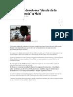 Francia No Devolverá Deuda de La Independencia a Haití. Docx