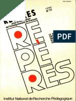 Repères Nº 77 - 1989