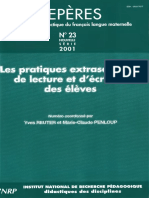 Repères Nº 23- 2001
