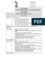 Agenda CEMAC Dialogue 24 April 2008 English