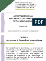 Presentación Reglamento de Evaluación 2004