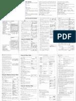 Seiko Executive Phone Card DF-260 Operation Manual (1991)