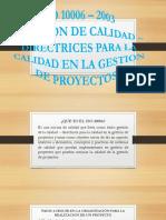DORIS ISO 10006 – 2003