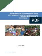 Informe de evaluación de resultados PIRDAIS 2016