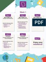Study Plan - Class 10 - BTLA - June 2018