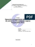 Operacion y Programacion de Sistemas de Control Con Plc