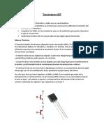 Transistores BJT Marco Teorico