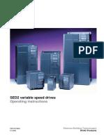 Siemens SED2 Manual