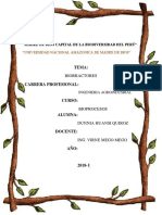 Monografia de Biorreactores