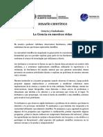 PARTICIPACION DESAFIO CIENTIFICO