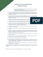 Reglamento Del Laboratorio de (1)