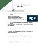 Evaluación Parcial Veterinaria y Zootecnia 2do