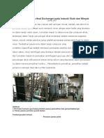 Penerapan Sistem Heat Exchanger Pada Industri Butir Dan Minyak