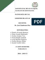 Patologia Lesiones Blancas