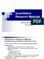 Quantitative Research Methods