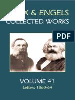 Marx & Engels Collected Works Volume 41_ Ka - Karl Marx