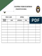 Registro de Entrega y Recibo de Asistencias