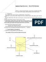 Requirement engineering Exercise – the ATM System
